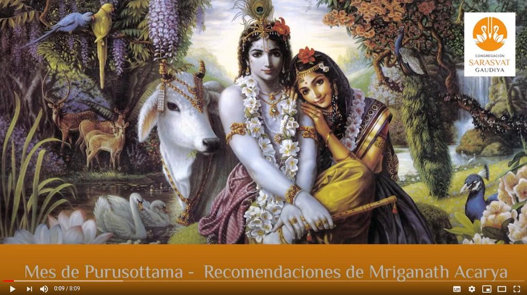 Recomendaciones para el Mes de Purusottam (Mrigannath Acarya)